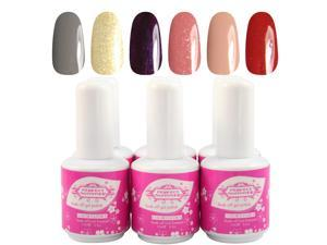 2014 New Perfect Summer Gel Polish 15ml/pc 6pcs Mix Rainbow Color UV Gel Nail Polish Nail Beauty Products