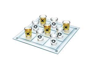 Drinking Game Tic-Tac-Toe Set - Game Board & 10 Shot Glasses