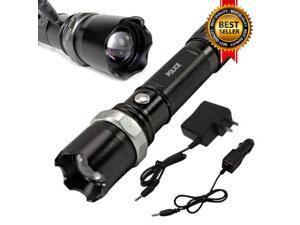 Military Grade Tactical Police Heavy Duty 3W Rechargeable Flashlight