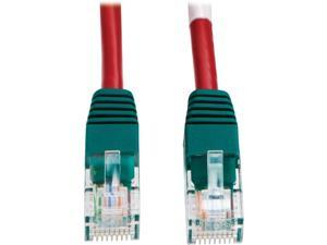 TRIPP LITE N010-010-RD 10 ft. Cat 5/5E Red Cat5e 350MHz Molded Cross-over Patch Cable (RJ45 M/M) - Red
