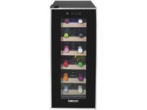 Cuisinart CWC-1200TS 12-Bottle 12-bottle Private Reserve Wine Cellar, Black Black