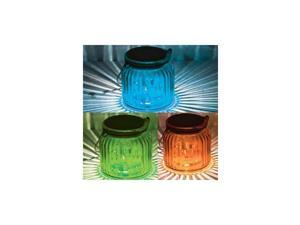 SMART SOLAR 3902MRM3 3pk Glass Jar Solar Accents