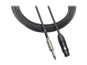 "audio-technica Model ATR-MCU10 10 ft. XLRF - 1/4"" Cable for Balanced Microphones with Pin 2 Hot"