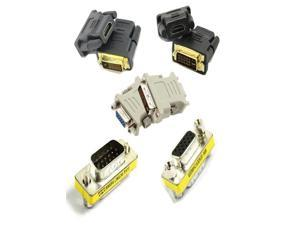 Video Adapter Dvi-i 24+5 to 15 Hd/db/15 Vga/svga Female Adapter+ 15 Hd/db/15 Vga/svga F-f/m-m Mini Gender Changer and Hdmi ...