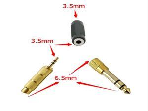 Audio Stereo Headphone Adapter Kit: 6.5mm Male to 3.5mm Female Audio Adapter+6.5mm Female to 3.5mm Male Audio Adapter+3.5mm ...