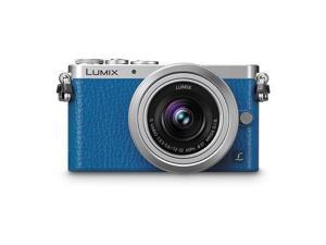 Panasonic Lumix DMC-GM1 Mirrorless Digital Camera (Blue) w/12-32mm Lens (Silver)