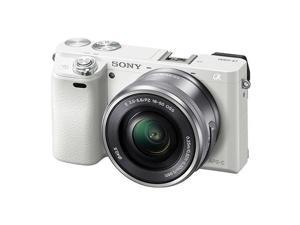Sony Alpha a6000 Mirrorless Digital Camera with 16-50mm E-Mount Lens, White