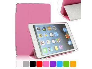 BESDATA Pink Ultra Slim Folio Smart Cover Case Tri-fold Stand with Hard Back Case For iPad Mini 2 Retina Display
