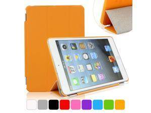BESDATA Orange Ultra Slim Folio Smart Cover Case Tri-fold Stand with Hard Back Case For iPad Mini 2 Retina Display