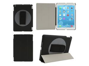 2014 New Tri-fold PU Leather Smart Case Cover Rotating Rotate Hard Case with Hard Bar Strap For Apple iPad Air 5 5th Gen ...