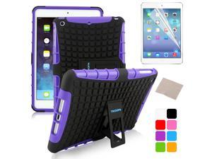 BESDATA Purple Hybrid Heavy Duty Case Cover Stand for Apple iPad Mini 1 1st Gen  +Stylus Film