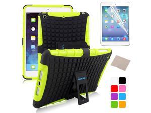 BESDATA Green Hybrid Heavy Duty Case Cover Stand for Apple iPad Mini 1 1st Gen  +Stylus Film