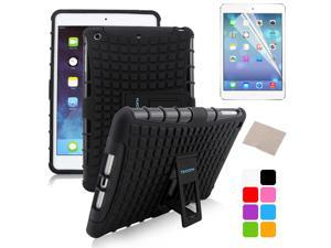 BESDATA Black Hybrid Heavy Duty Case Cover Stand for Apple iPad Mini 1 1st Gen  +Stylus Film