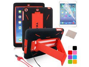 BESDATA Red New Heavyduty Survivor Shockproof Military Duty Hybrid Hard Case Cover For iPad Mini 2