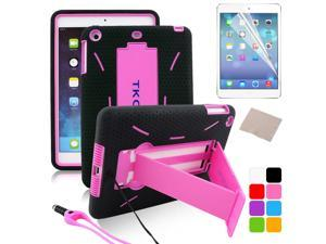 BESDATA Pink New Heavyduty Survivor Shockproof Military Duty Hybrid Hard Case Cover For iPad Mini 2