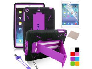 BESDATA Purple New Heavyduty Survivor Shockproof Military Duty Hybrid Hard Case Cover For iPad Mini 2