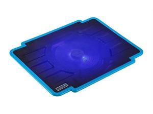 CORN laptop cooling pad 14-inch 15.6-inch notebook computer radiator LED with 140 mm Configurable Fans Blue