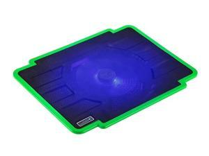 CORN laptop cooling pad 14-inch 15.6-inch notebook computer radiator LED with 140 mm Configurable Fans Green
