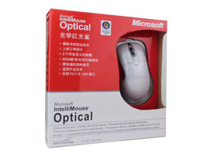 Microsoft White Wired Optical IntelliMouse Optical 1.1 - OEM