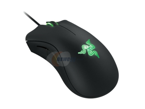 RAZER DeathAdder 5 Buttons 1 x Wheel USB Wired Optical Precision Optical Gaming Mouse with Green Light LED - OEM