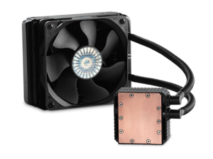 Cooler Master Seidon 120V - Compact All-In-One CPU Liquid Water Cooling System with 120mm Radiator and Fan LGA2011 / 1366 / 1150 / 1155 / 1156 / 775  FM2 / FM1 / AM3+ / AM3 / AM2