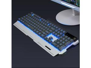 Silent 3 Color LED Backlit Mute Wired Gaming Keyboard Metal Keyboard Mechanical feel Game Keyboard for Gamer