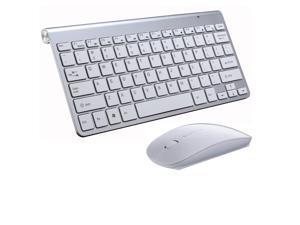 CORN Black Mini Keyboard & Mouse With RF 2.4GHZ Wireless Connection by a USB Nano Receiver, and Super Thin Design