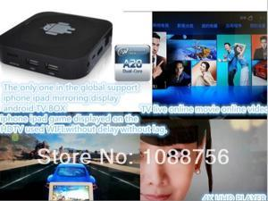 above ISO5.0.1 A20  1.0GHZ Andriod TV box ,Set top box support Airplay Mirroring,DLNA, wifi display, Miracast