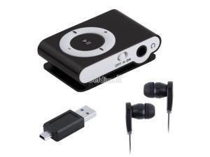 Support 1-8GB Micro SD TF Mini Clip Metal USB MP3 Music Media Player + Headphone