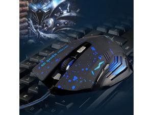 New Hot Sale 2000DPI Wired Blue LED Game Gaming Mice Mouse Optical 6 Buttons for Laptop
