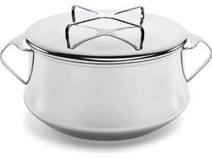Dansk Kobenstyle Stainless Steel Casserole Pot with Lid, 6 Quart