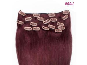 Wire Eed Full Head Clips in 100% Remy Real Human Hair Extensions Long Straight or hot tongs, strengtheners, hair products, ...