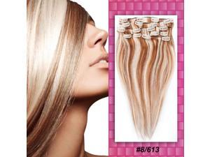 Full Head Clip in Synthetic Hair Extensions Human Made Hair WigYellow Full Head Clips in 100% Remy Real Human Hair Extensions ...
