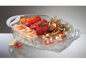 PRODYNE AB7 BUFFET ON ICE 4 COMPARTMENT VENTED FOOD TRAY