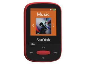 "SANDISK SDMX24-004G-A46R 4GB 1.44"" Clip Sport MP3 Player (Red)"