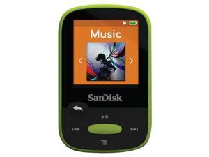 "SANDISK SDMX24-008G-A46L 8GB 1.44"" Clip Sport MP3 Player (Lime)"
