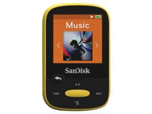 "SANDISK SDMX24-008G-A46Y 8GB 1.44"" Clip Sport MP3 Player (Yellow)"