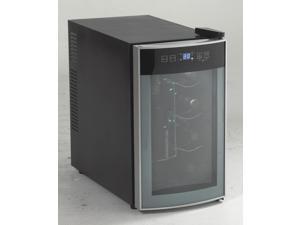 "AVANTI EWC801-IS  8-Bottle 10"" Thermoelectric Freestanding Wine Cooler, Platinum/Black"