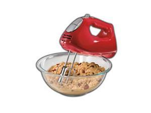 Hamilton Beach 62633R Hand Mixer with Snap-On Case - Red