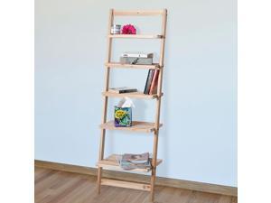 Lavish Home  83-15-5  Five-Tier Ladder Blonde Wood Storage Shelf