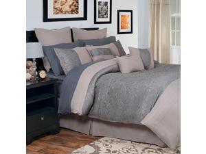 Lavish Home Leah 14 piece Oversized Embroidered Comforter Set - King
