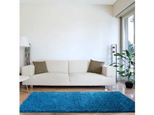 Lavish Home High Pile Shag Rug Carpet - Blue - 30x60
