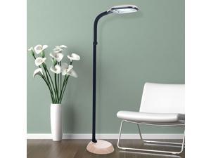 Lavish Home Light Wood Grain Sunlight Floor Lamp - 5 feet
