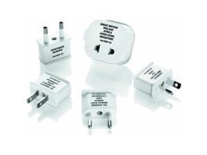 Travel Smart Polarized Adapter Plug 5pc Set - 250 V AC / 10 A, 12 A