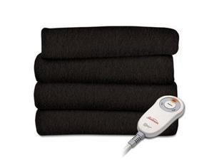 OPP Fleece Heated Throw Walnut