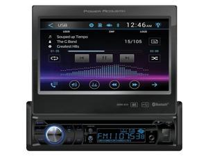 "POWER ACOUSTIK PD-724B 7"" Single-DIN In-Dash Motorized LCD Touchscreen DVD Receiver with Bluetooth(R)"