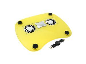1400RPM PC Notebook Laptop USB Cooling Fan Cooling Pad Yellow
