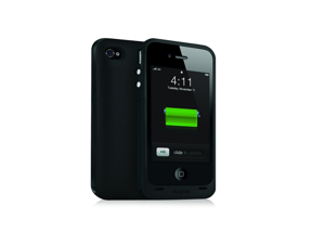 Mophie Juice Pack Plus Case and Rechargeable Battery for iPhone 4 & 4S Retail Packaging (Black)