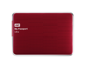 WD My Passport Ultra 500GB Portable External Hard Drive USB 3.0 with Auto and Cloud Backup - Red (WDBPGC5000ARD-NESN)