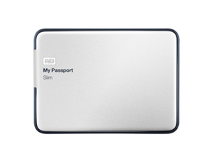 WD My Passport Slim 2TB Portable Metal External Hard Drive USB 3.0 with Auto and Cloud Backup (WDBPDZ0020BAL-NESN)